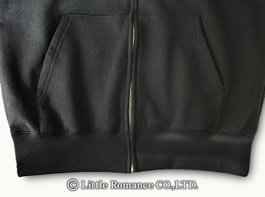 「むかしむかし」メンズ和柄ジップパーカーDetails裾・ポケット