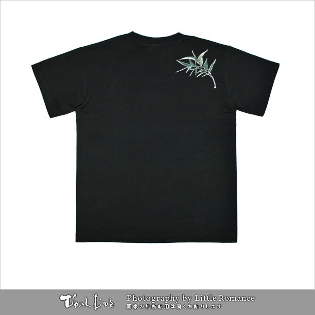 和柄メンズ半袖Tシャツ,鳥刀