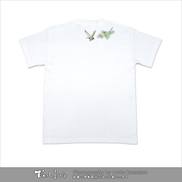 和柄メンズ半袖Tシャツ,飛鷹