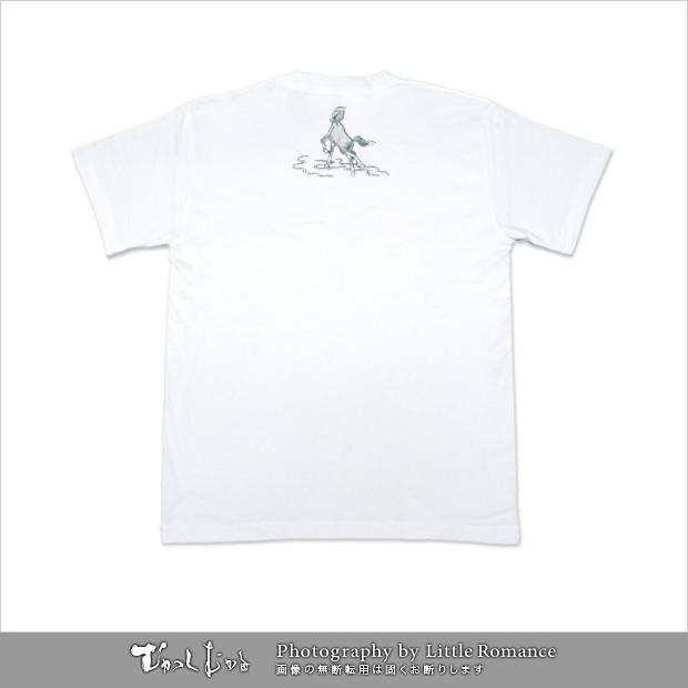 和柄メンズ半袖Tシャツ,走馬
