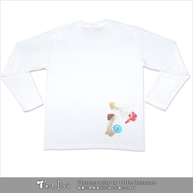 和柄レディス長袖Tシャツ